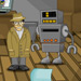 Cartoon based point and click private-eye adventure game with cool music