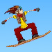 Brilliant snappy downhill snowboarding game with stunts and tricks to perform